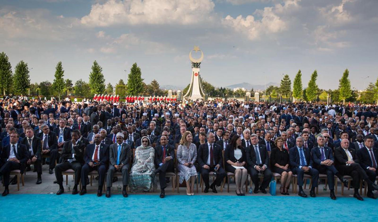(foto) Igor Dodon și soția sa, în primul rând la inaugurarea președintelui Turciei, Recep Tayyıp Erdoğan