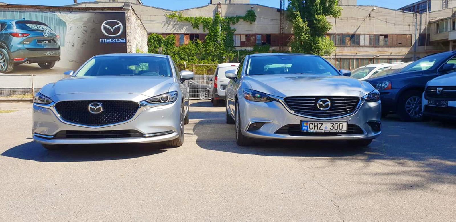 (foto) Mazda Moldova a comparat modelul Mazda6 facelift cu predecesorul său