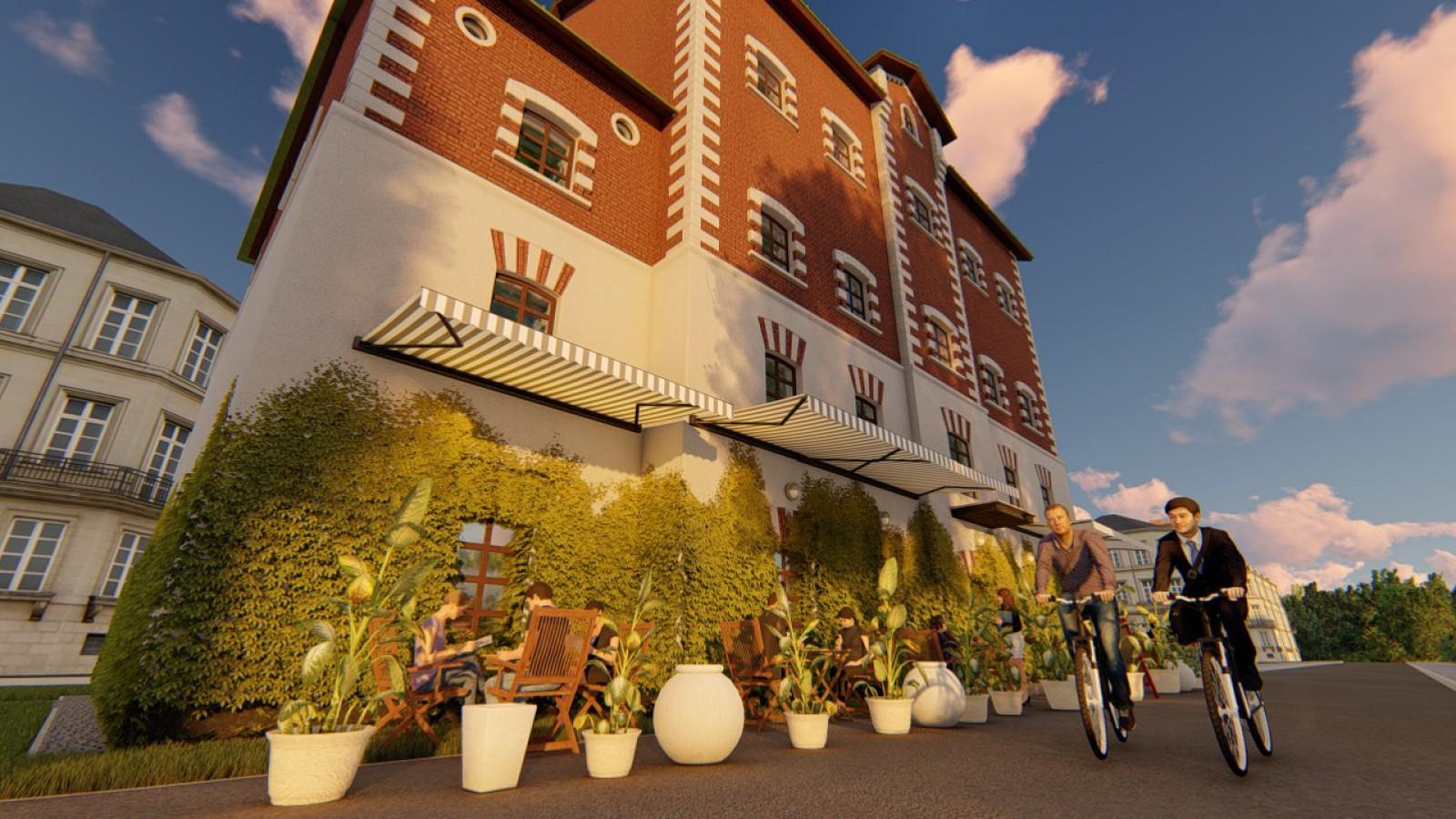 (foto) Proiect: Cum ar putea arăta Moara Roșie, renovată după conceptul a doi studenți de la UTM