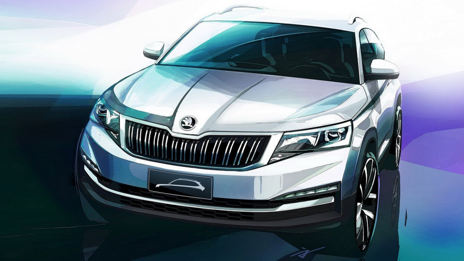 (foto) Skoda prezintă oficial primele schiţe ale unui nou SUV urban