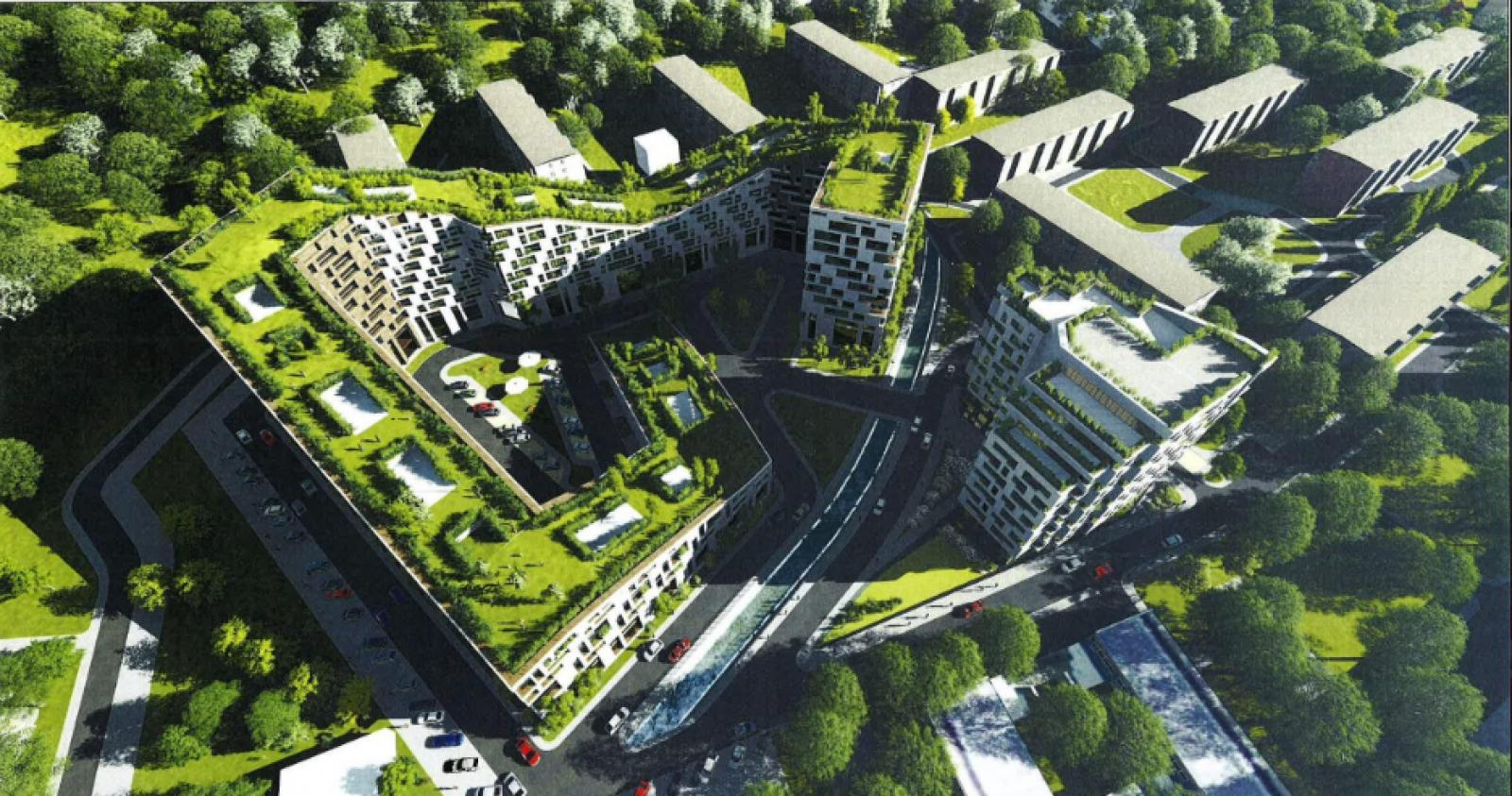(foto) Un adevărat parc pe acoperiș: Un astfel de bloc ar putea fi construit în Chișinău