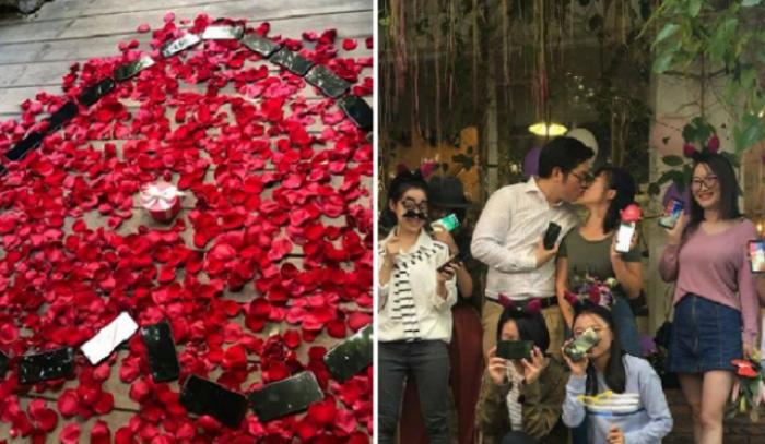 (foto) Un bărbat a cumpărat 25 de telefoane iPhone X pentru a-şi cere iubita în căsătorie
