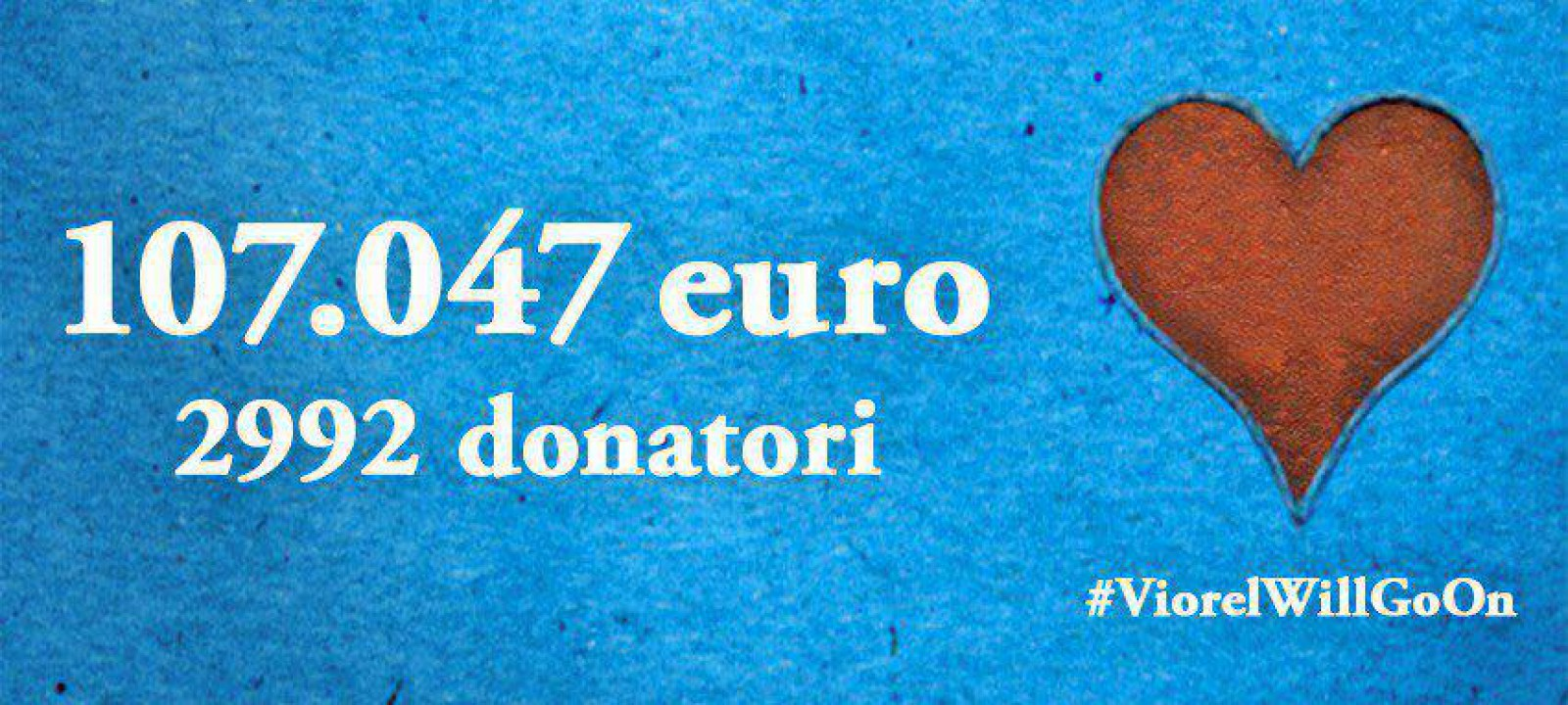Gest de solidarizare incredibil: Campania ViorelMustGoOn a adunat toată suma necesară de bani în mai puțin de două zile