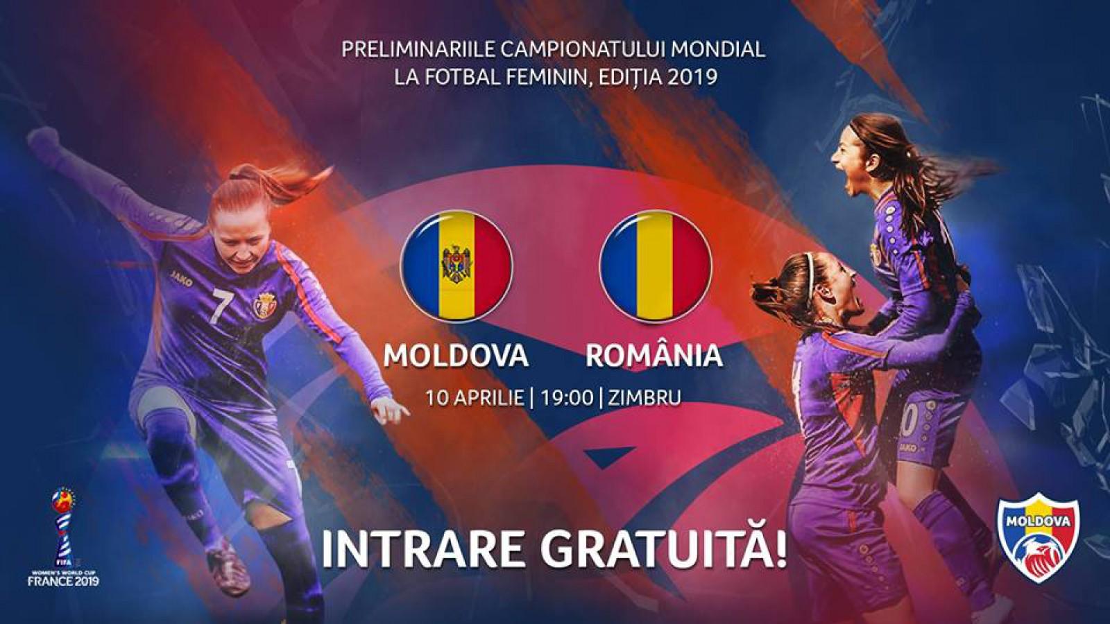 Hai Moldova! Susține echipa de fotbal feminin în meciul Moldova-România de pe 10 aprilie