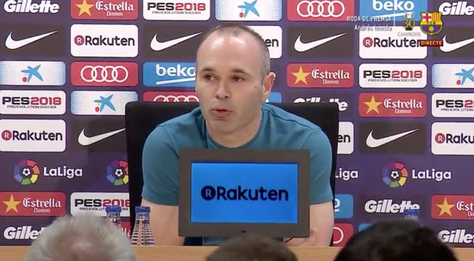 Iniesta, în lacrimi: Mijlocașul și-a anunțat oficial plecarea de la FC Barcelona