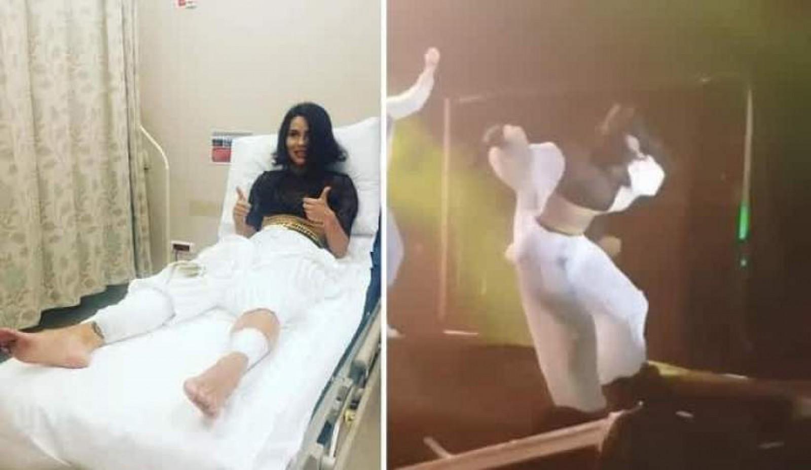 Inna, spitalizată la Istanbul. Cântăreaţa a căzut de pe scenă, în timpul concertului