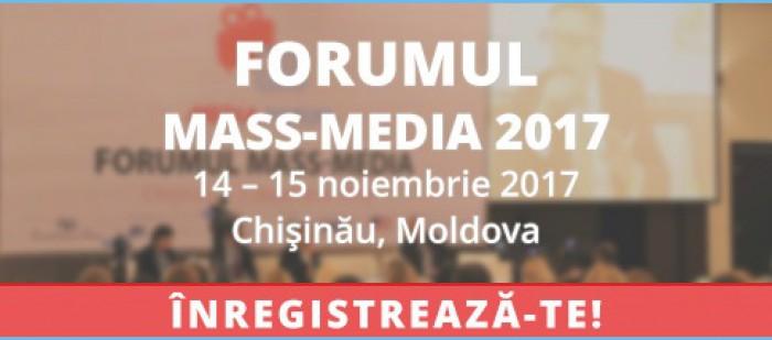 Jurnaliștii, editorii și managerii media sunt invitați la Forumul mass-media 2017