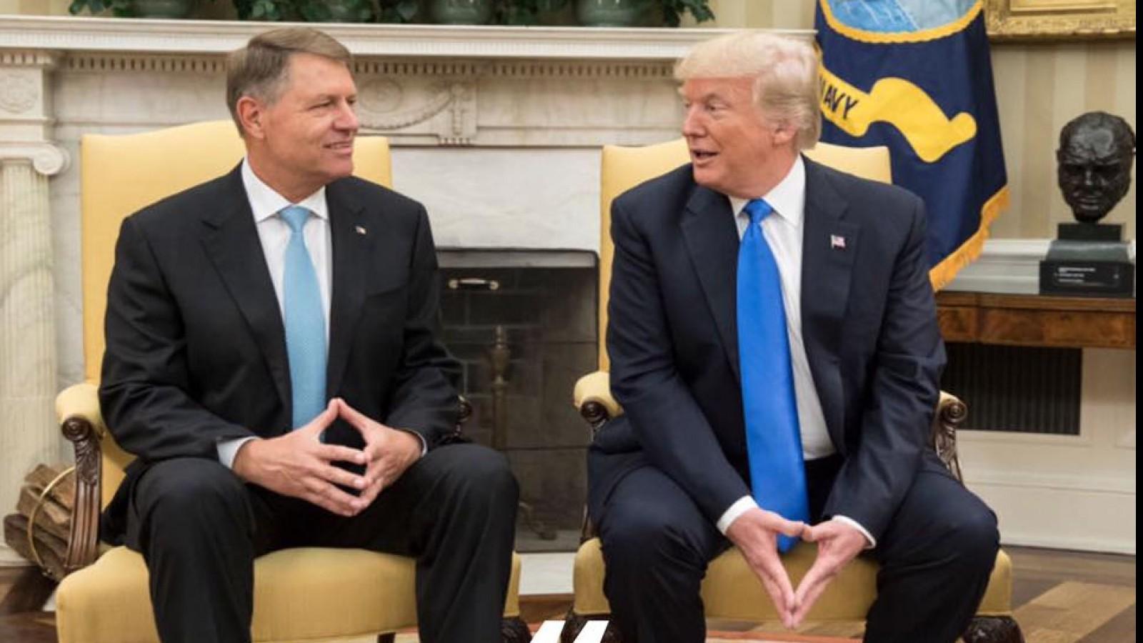 Klaus Iohannis se întâlneşte astăzi la Bruxelles cu Donald Trump