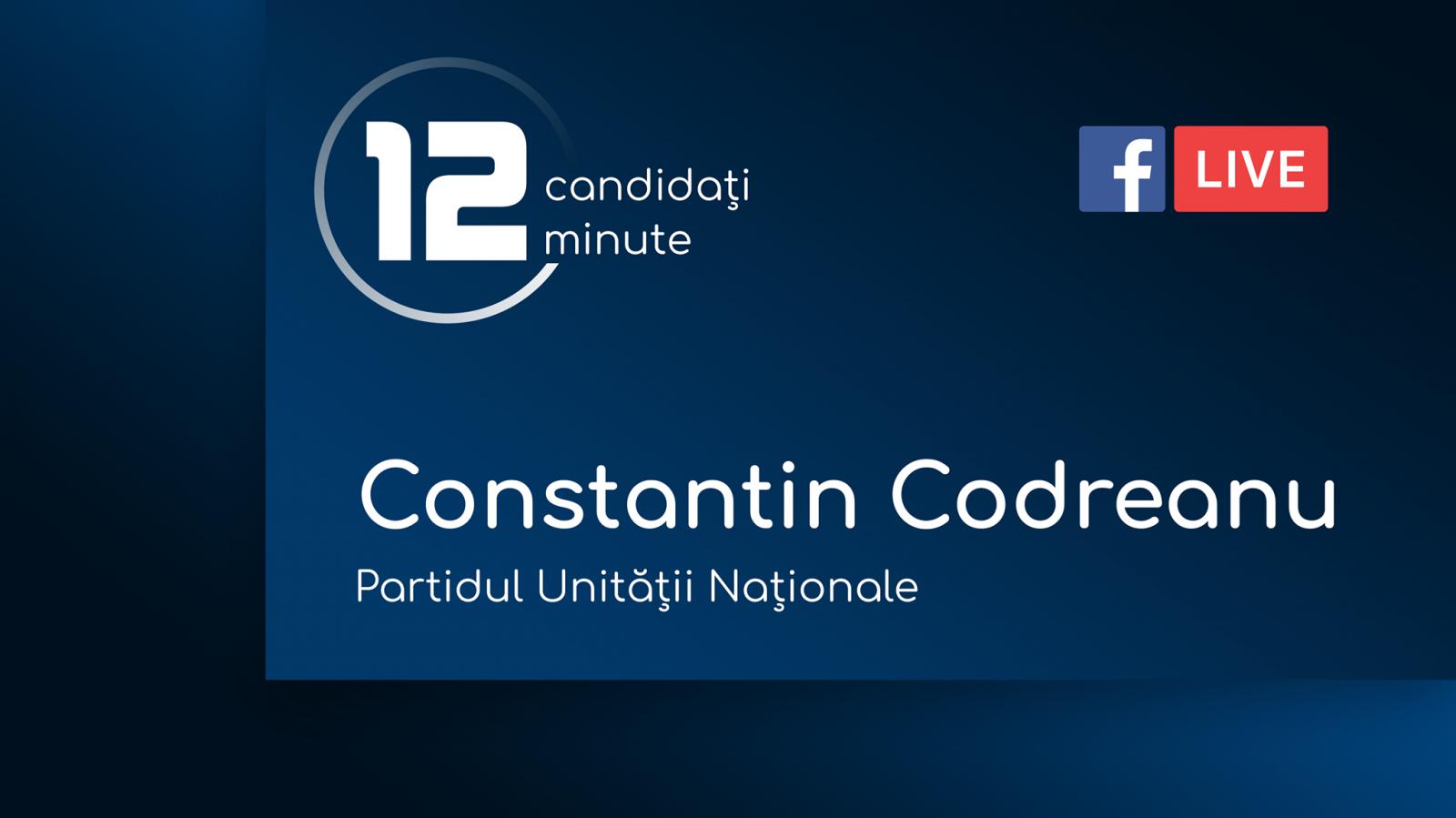 (video) 12 pentru Chișinău: Interviu cu Constantin Codreanu, candidat din partea Partidului Unității Naționale