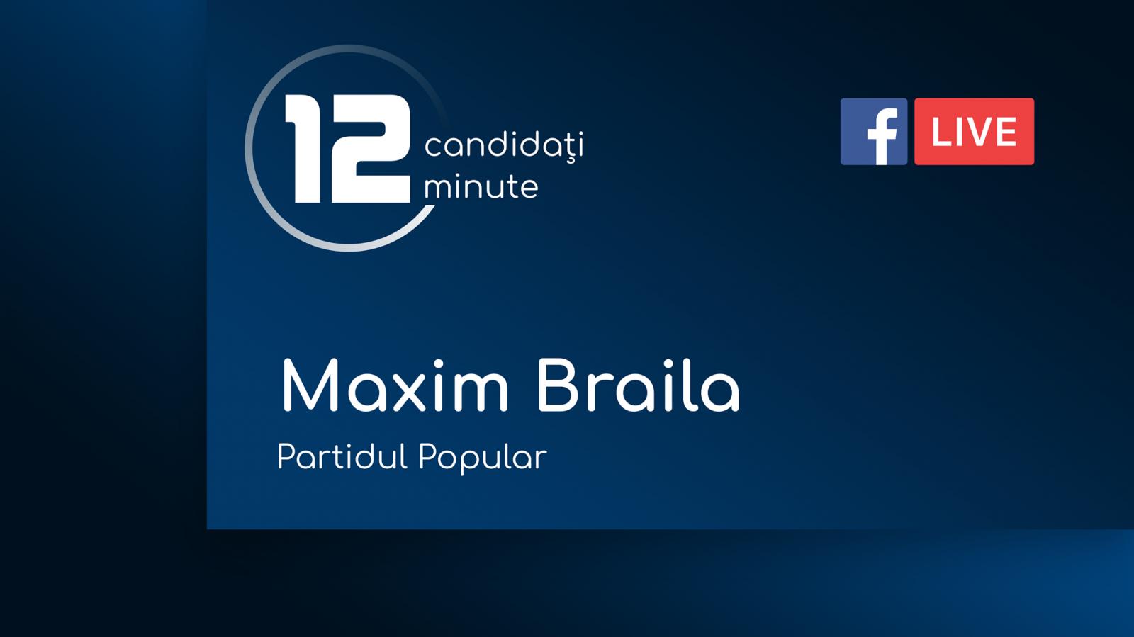 (video) 12 pentru Chișinău: Interviu cu Maxim Braila, candidat din partea Partidului Popular