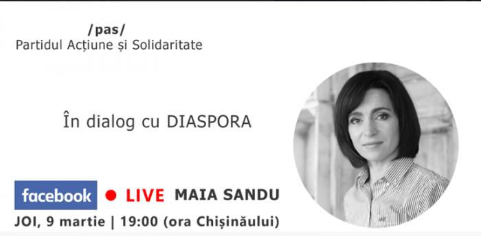 (video) Maia Sandu, în dialog cu diaspora