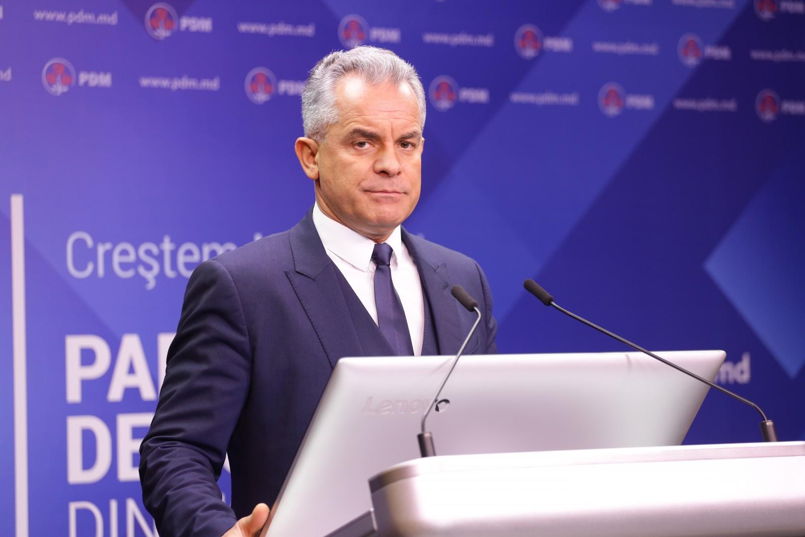 (video/update) Briefing săptămânal organizat de Partidul Democrat: Declarațiile lui Vladimir Plahotniuc