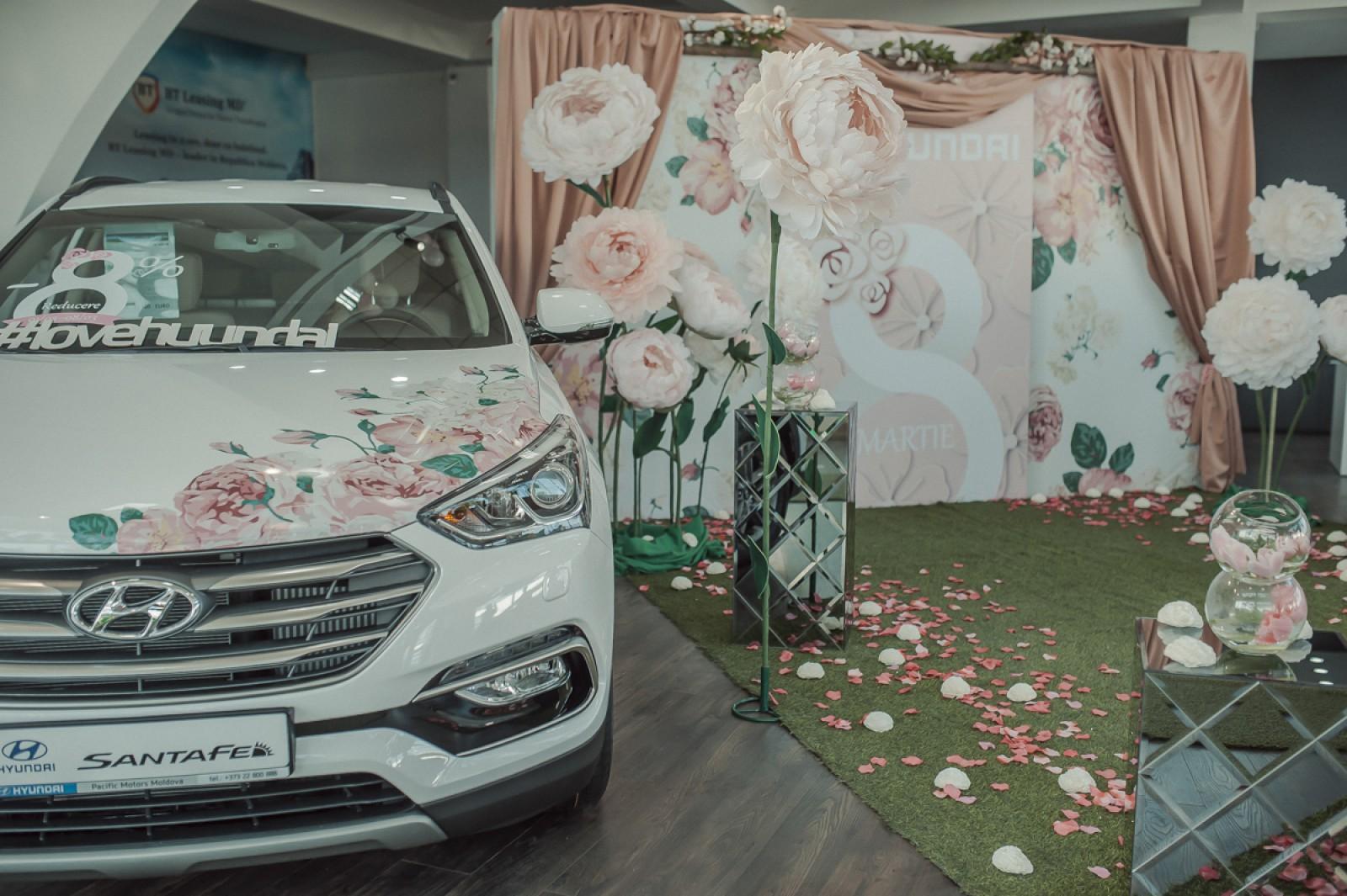 Master class creativ pentru confecționarea compozițiilor din flori vii la Centru Auto Hyundai Moldova