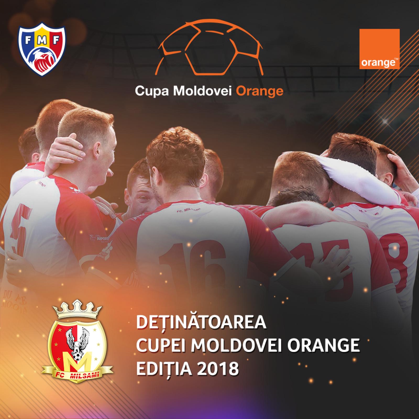 Milsami Orhei este noua deținătoare a Cupei Moldovei. Orheienii au învins Zimbru Chișinău în prelungiri