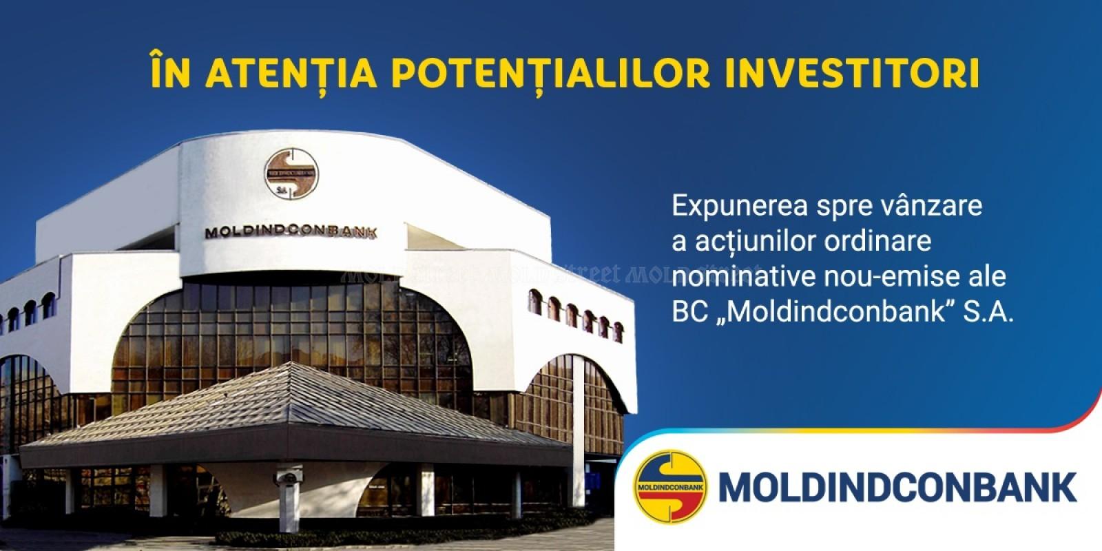 Mold-street: A doua bancă din Moldova e de vânzare