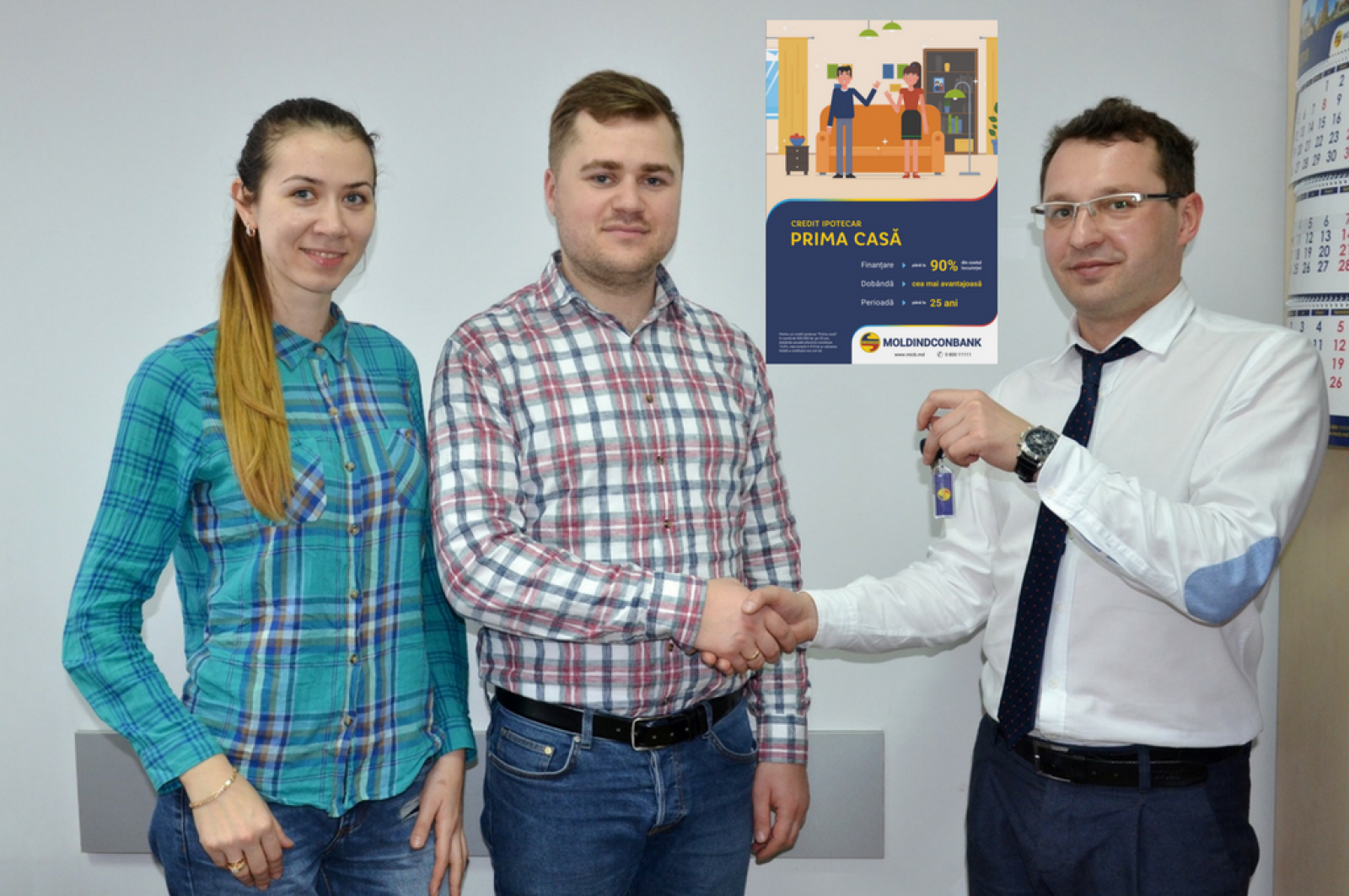 """Moldindconbank a oferit primul credit ipotecar """"Prima Casă""""!"""
