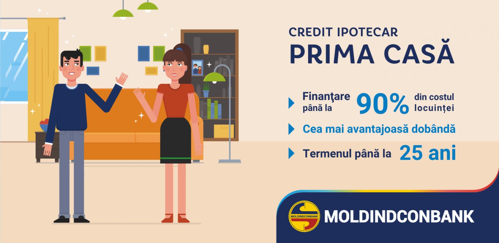 """Moldindconbank micșorează dobânda la creditul """"Prima Casă""""!"""