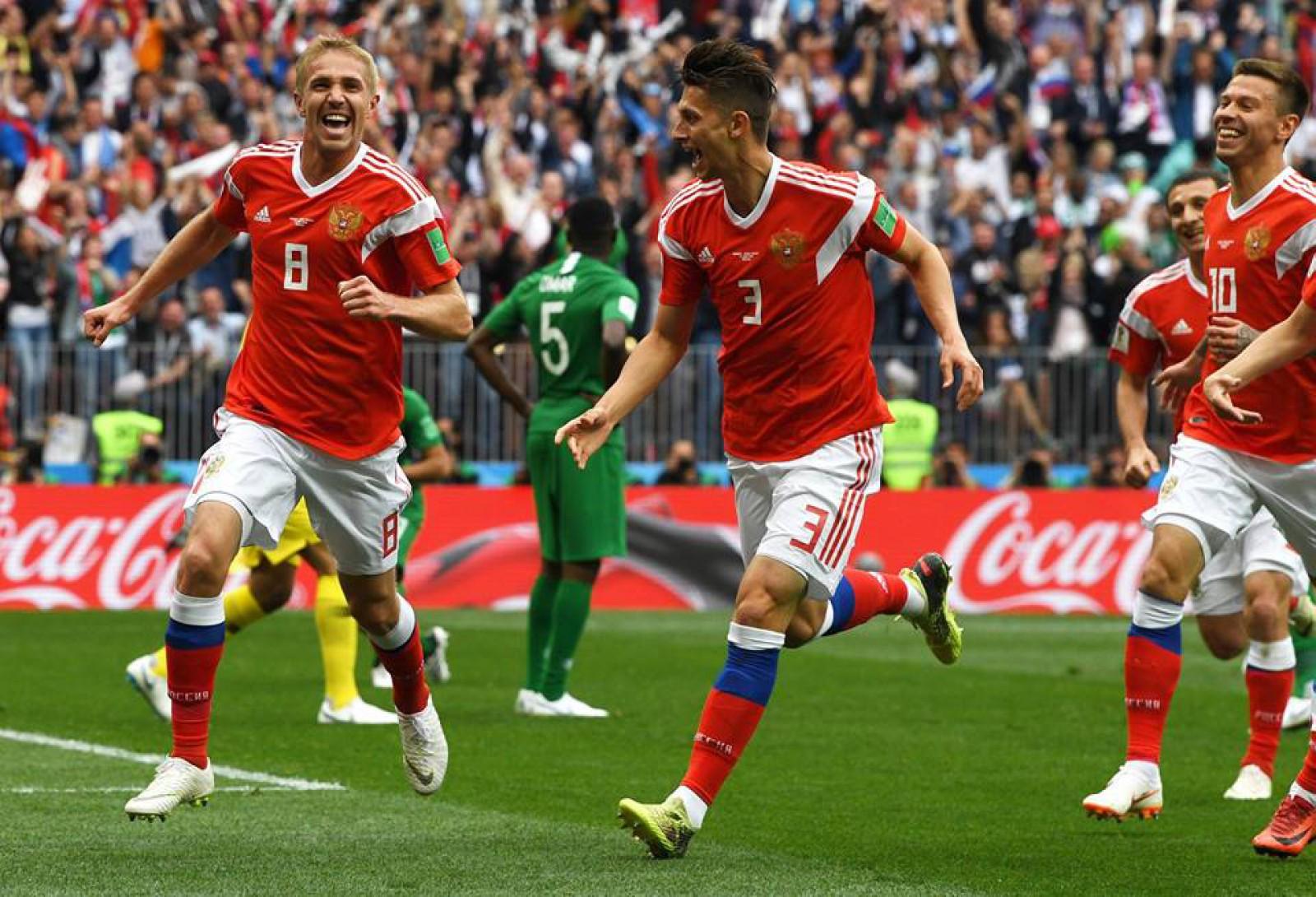 Naționala Rusiei a început în forță Campionatul Mondial! Gazda turneului a surclasat-o în meciul de deschidere pe Arabia Saudită