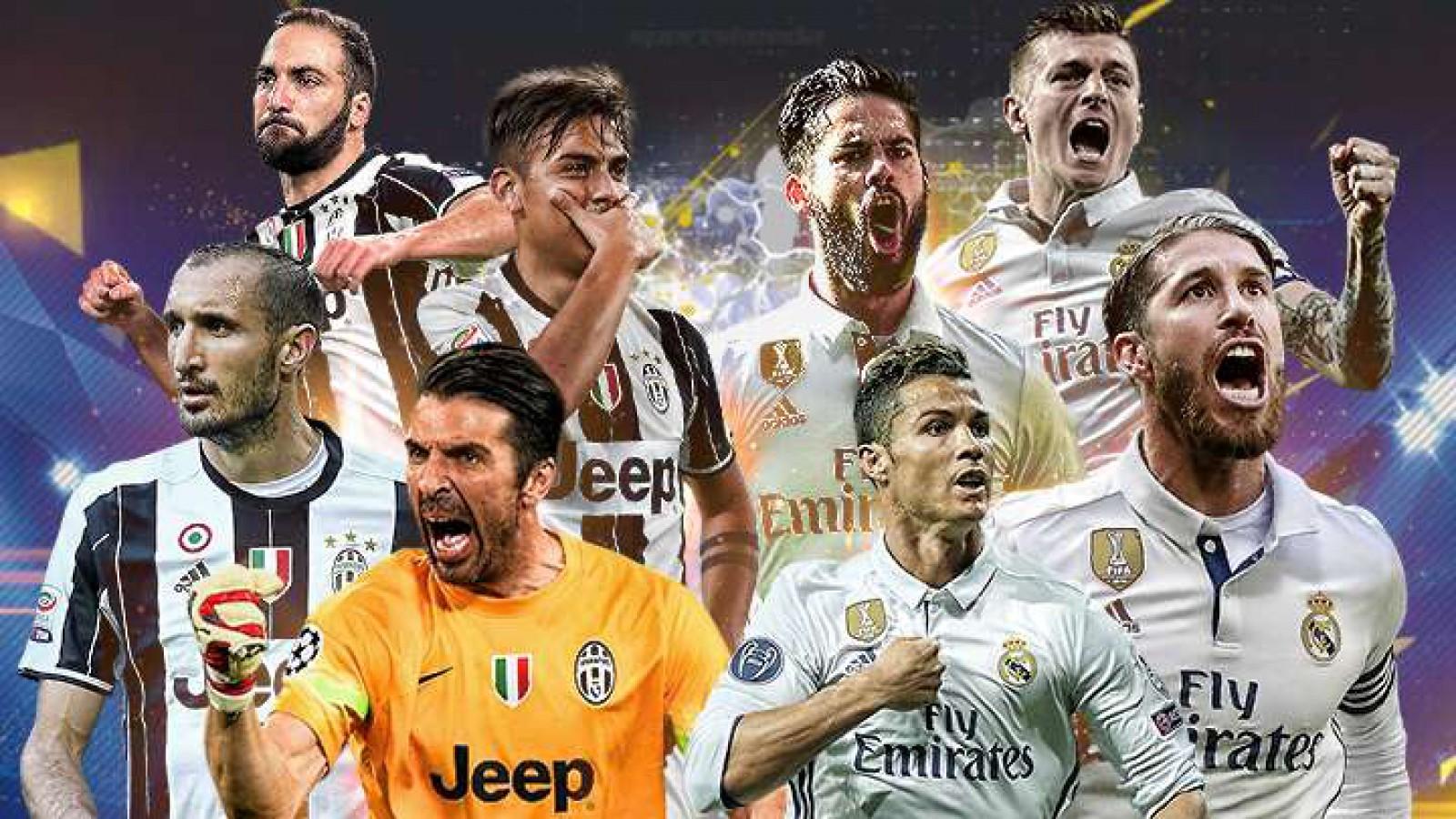 O nouă seară de Champions League. Meciul Real Madrid - Juventus Torino poate să-ți aducă 4125 de lei