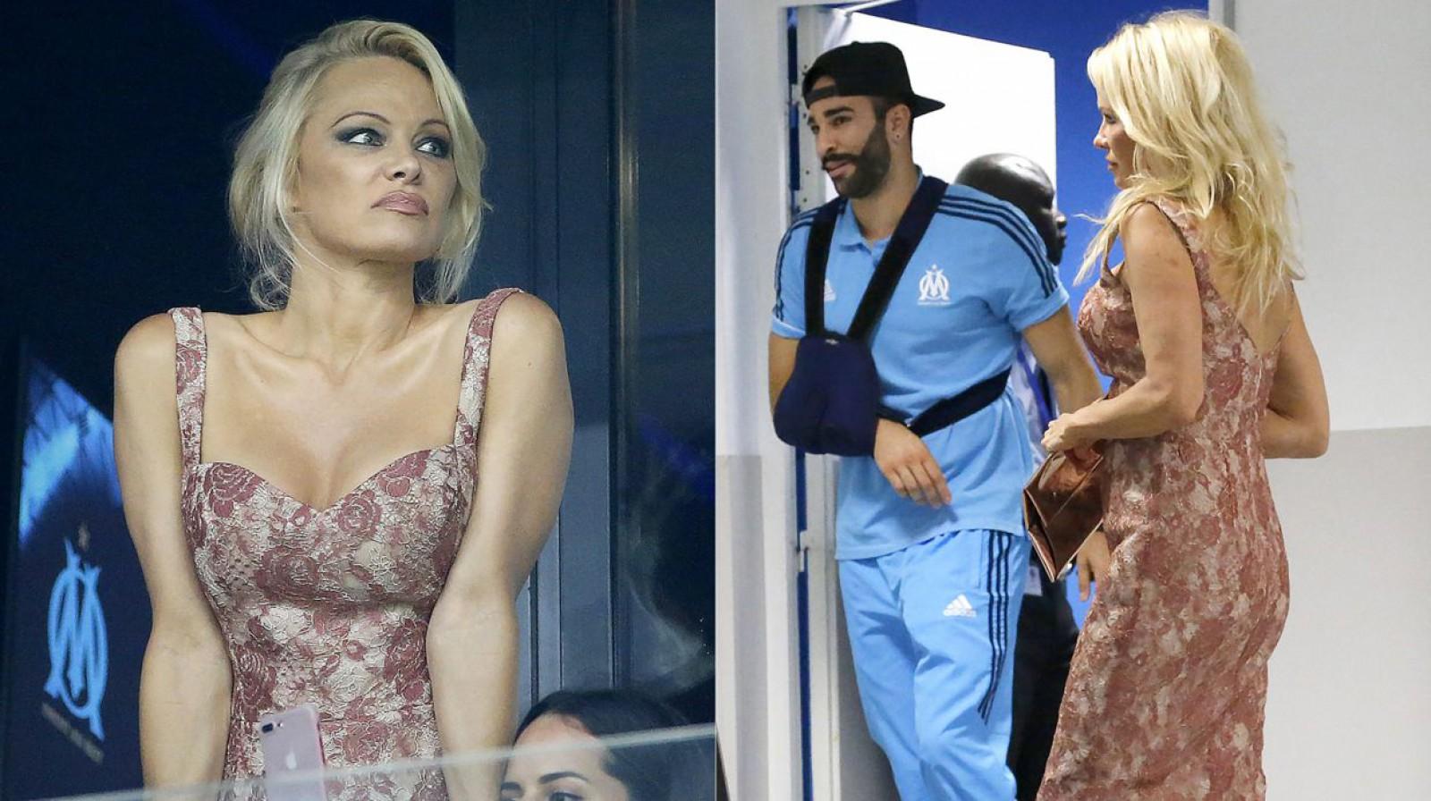Pamela Anderson a vorbit despre relația ei cu fundașul echipei franceze Olimpique Marseille, Adil Rami