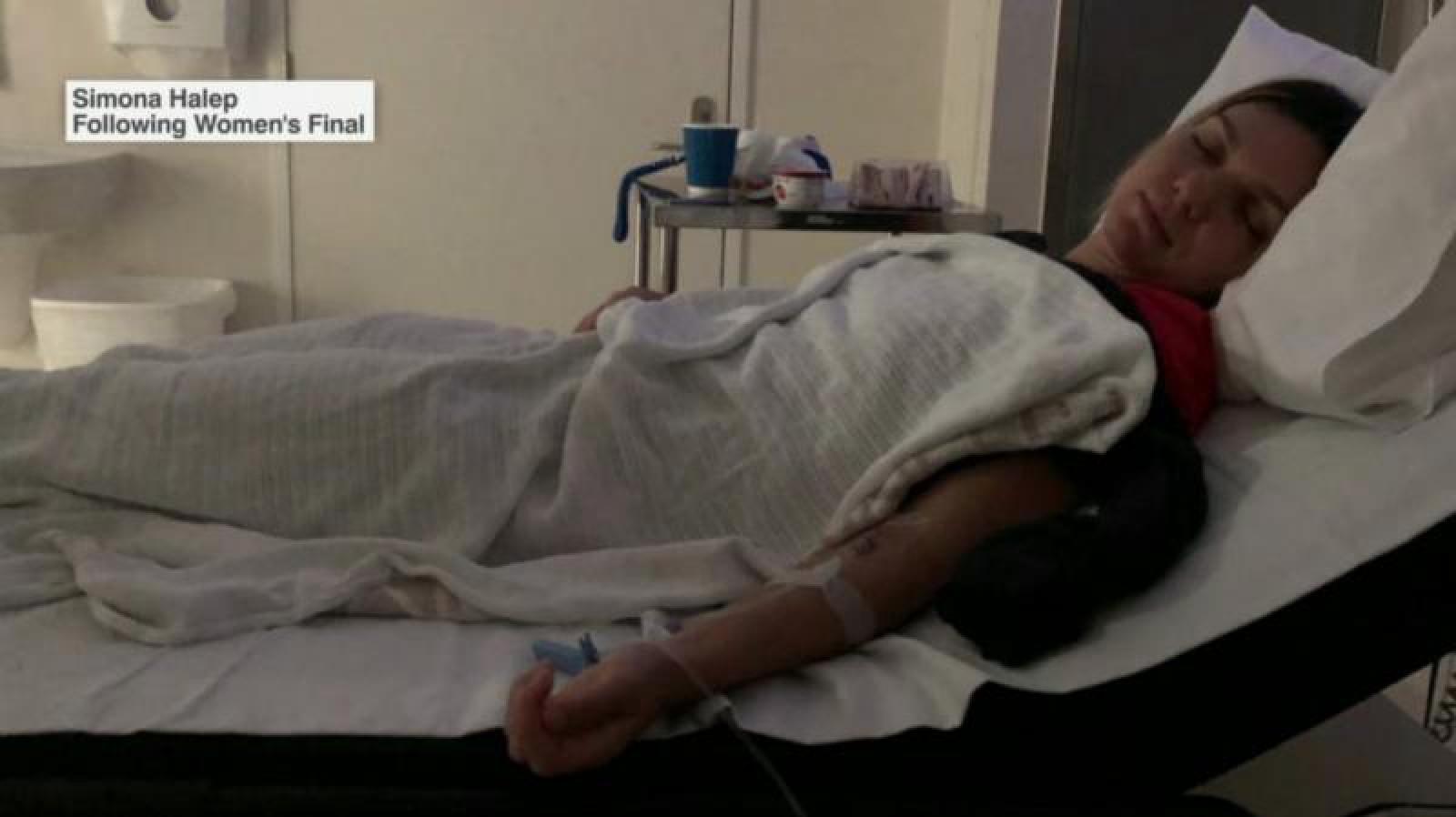 Simona Halep a ajuns la spital deshidratată după jocul care a durat aproximativ trei ore