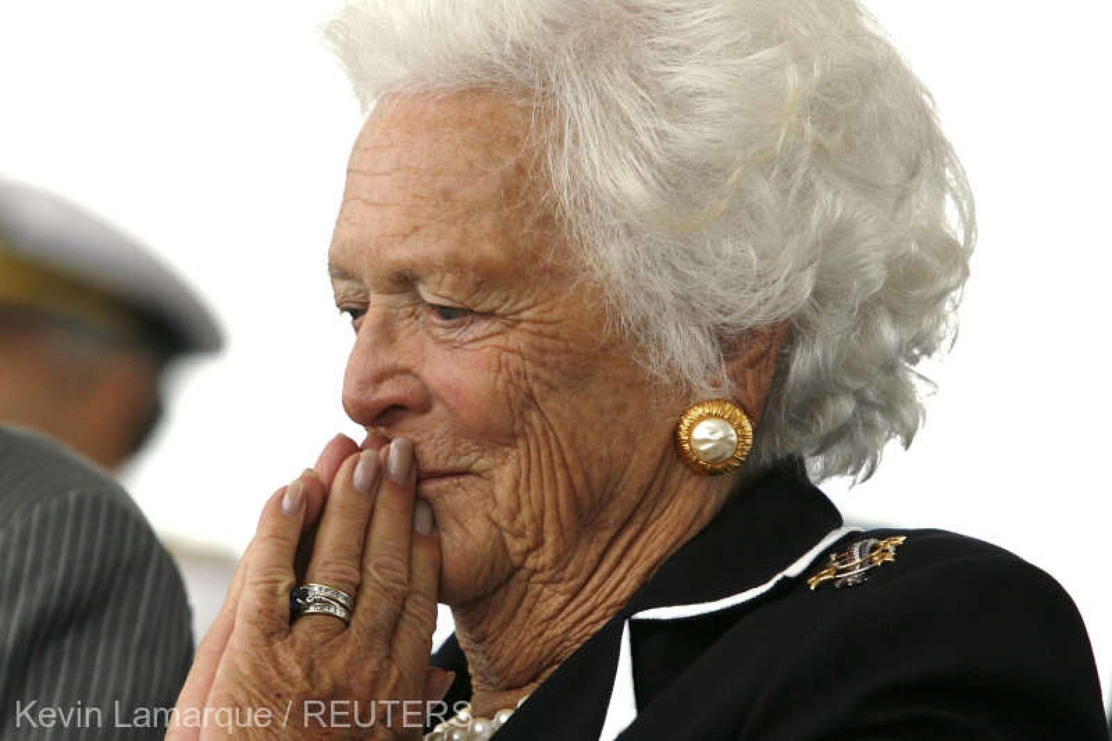 SUA: Barbara Bush, soţie şi mamă de preşedinţi, sub îngrijiri paliative