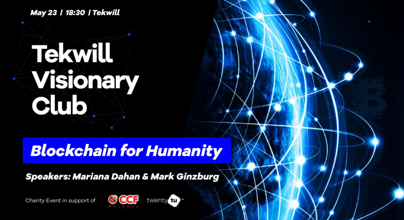 Tekwill Visionary Club cu Mariana Dahan și Mark Ginzburg, experți notorii în domeniul tehnologiei Blockchain