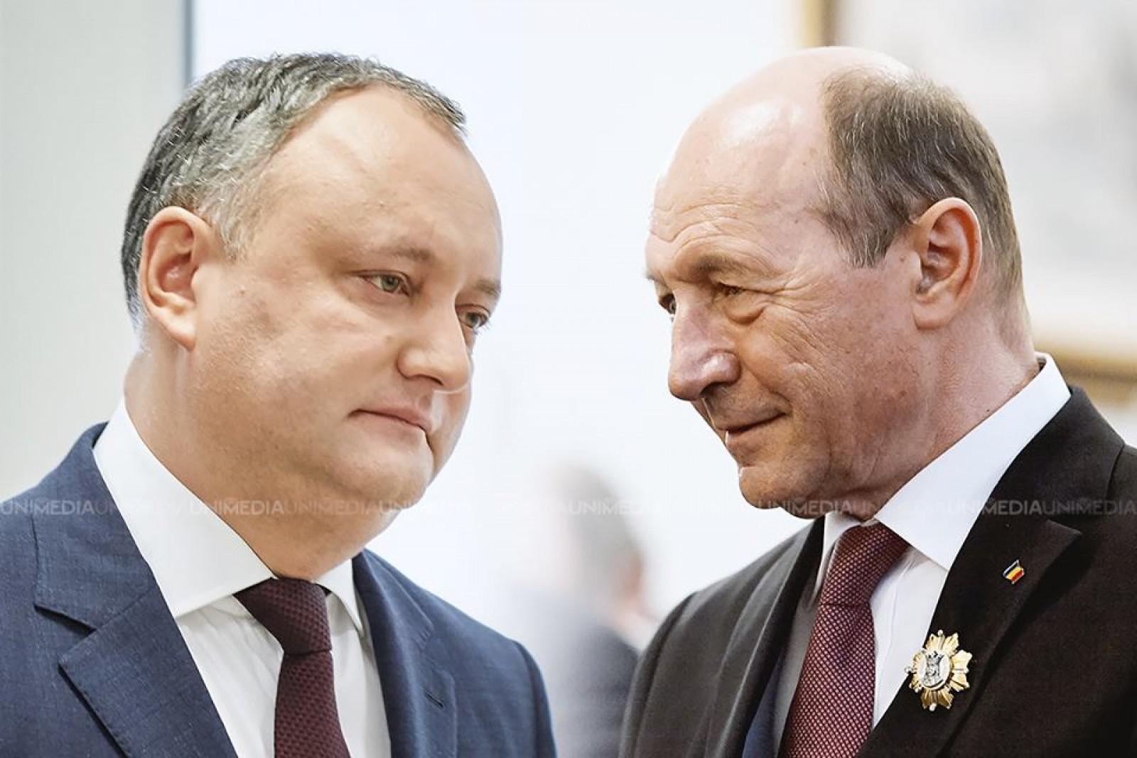 Comisiile create de Dodon au venit cu o solicitare la Președinție: Traian Băsescu să fie declarat persona non-grata în Moldova