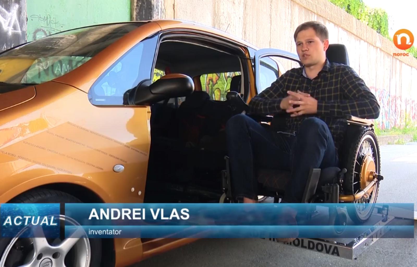 (video) Un moldovean a reușit să construiască o mașină pentru persoanele care se deplasează în scaunul cu rotile. Inspirația i-a venit de la un prieten ce a suferit un accident