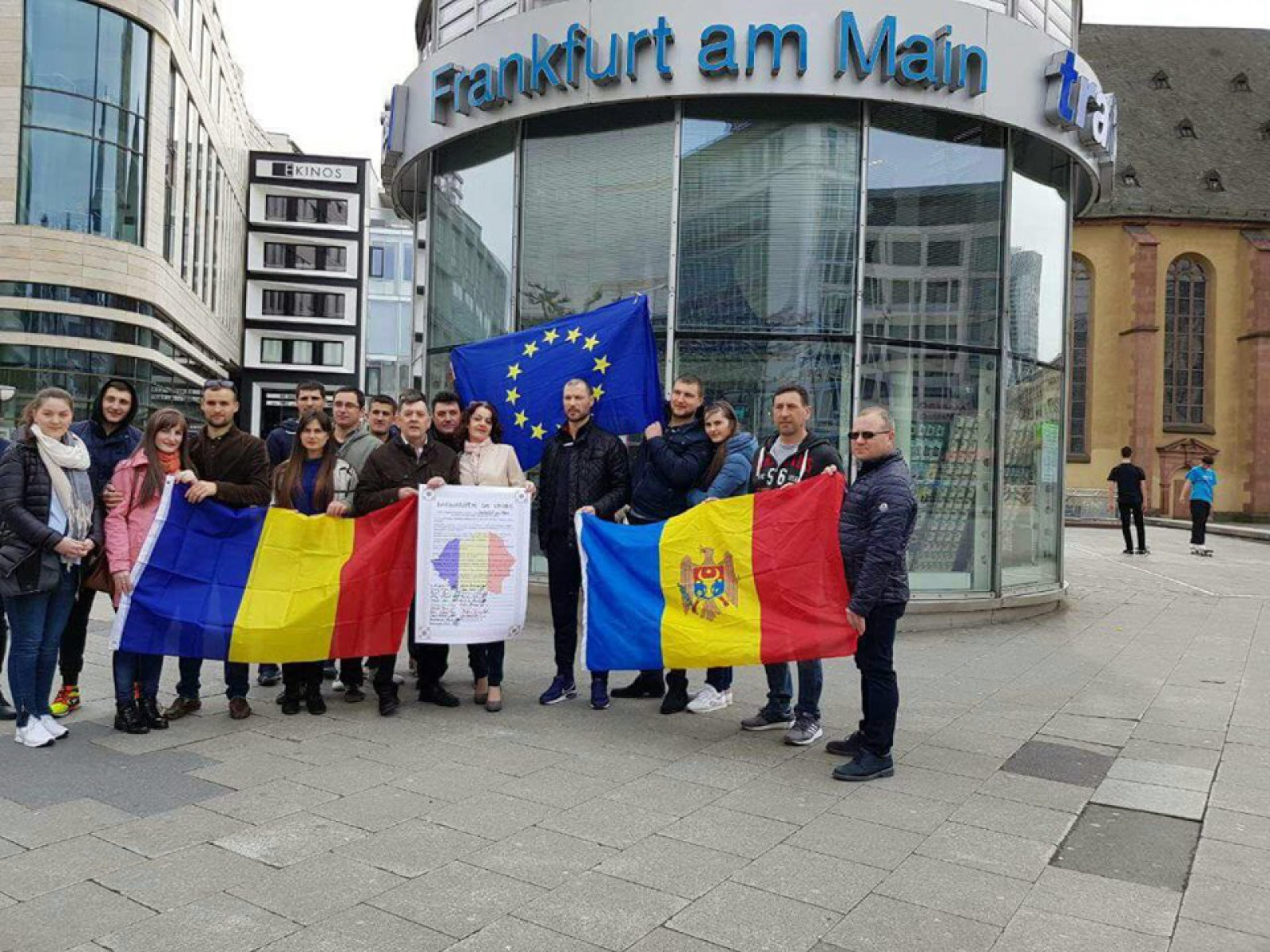 Unioniștii de pe ambele maluri ale Prutului s-au întâlnit la Frankfurt am Main pentru a semna declarația de Unire