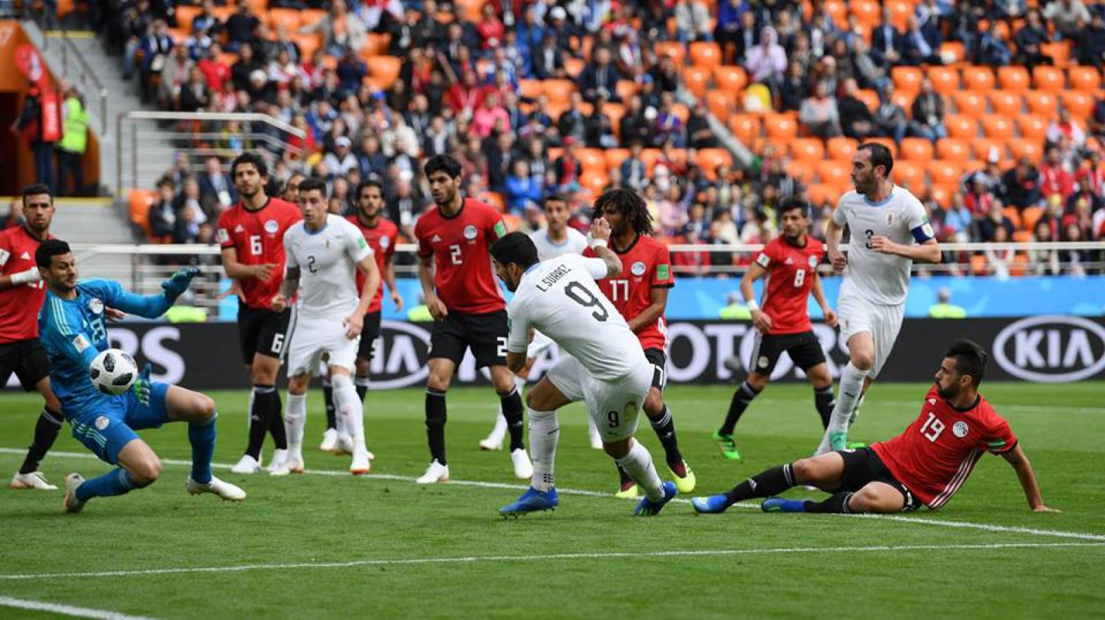 Uruguay 1-0 Egipt: Jose Gimenez a marcat golul victoriei pentru sud-americani în minutul 90
