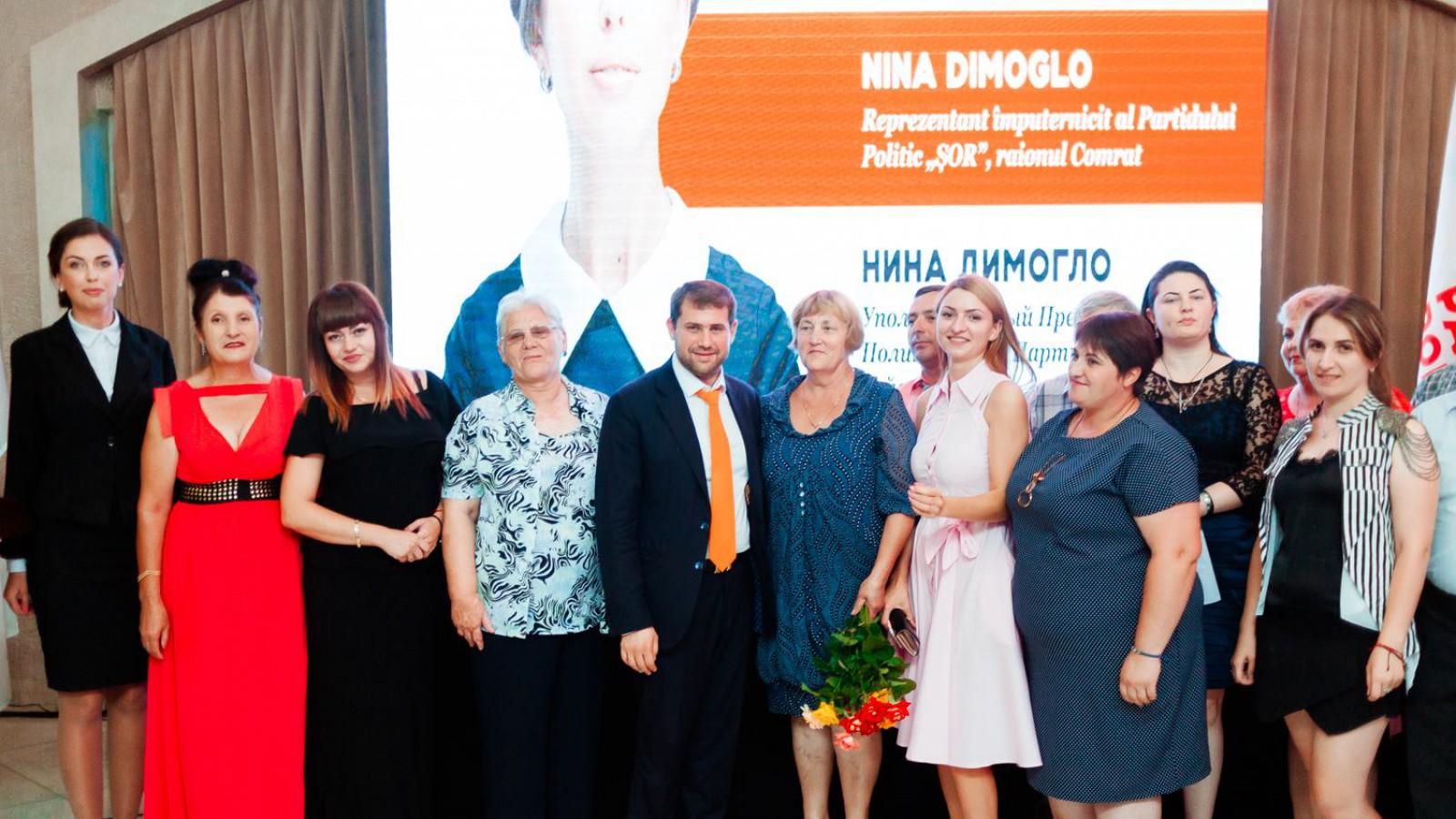 Veaceslav Lupov și Nina Dimoglo, reprezentanți împuterniciți în Taraclia și Comrat