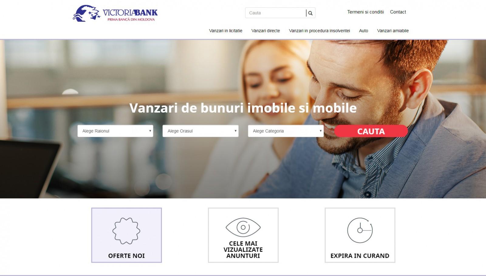 Victoriabank - prima bancă din Moldova care lansează o platformă cu active spre vânzare