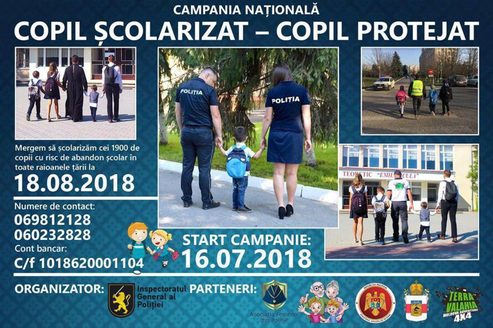 """(video) Campania """"Copil școlarizat - copil protejat"""" a Inspectoratului General de Poliție: Gheorghe Cavcaliuc și alți 12 șefi de Poliție au donat jumătate din salariu pentru rechizite și haine pentru copii"""