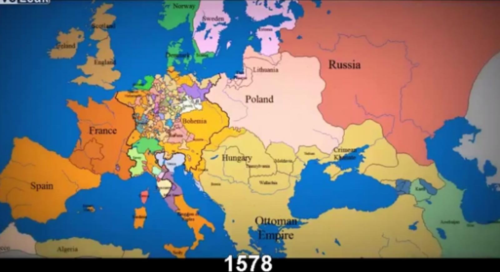 (video) Cum s-au schimbat granițele Europei în ultimii 1000 de ani