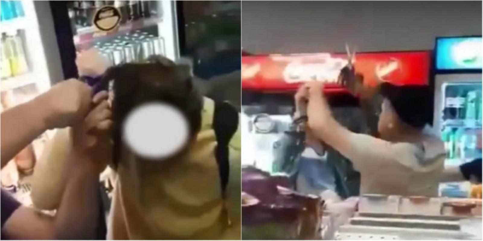 (video) Doi băieți, umiliți și tunși cu forța la o benzinărie din Călărași de către un grup de persoane sub influența băuturilor alcoolice