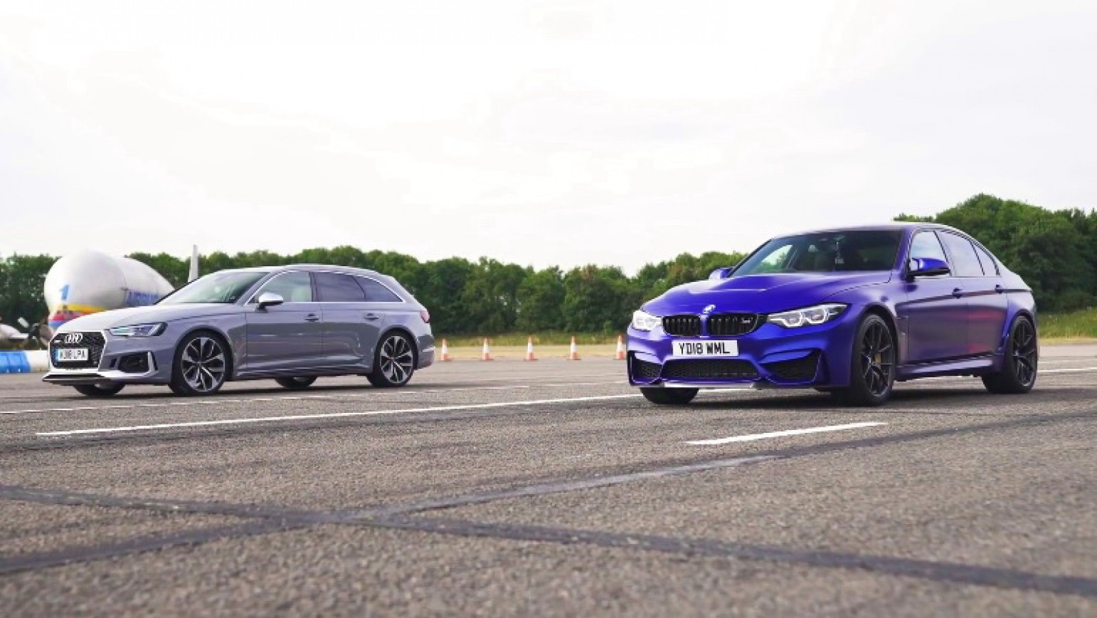 (video) Drag race: BMW M3 CS vs Audi RS 4 Avant