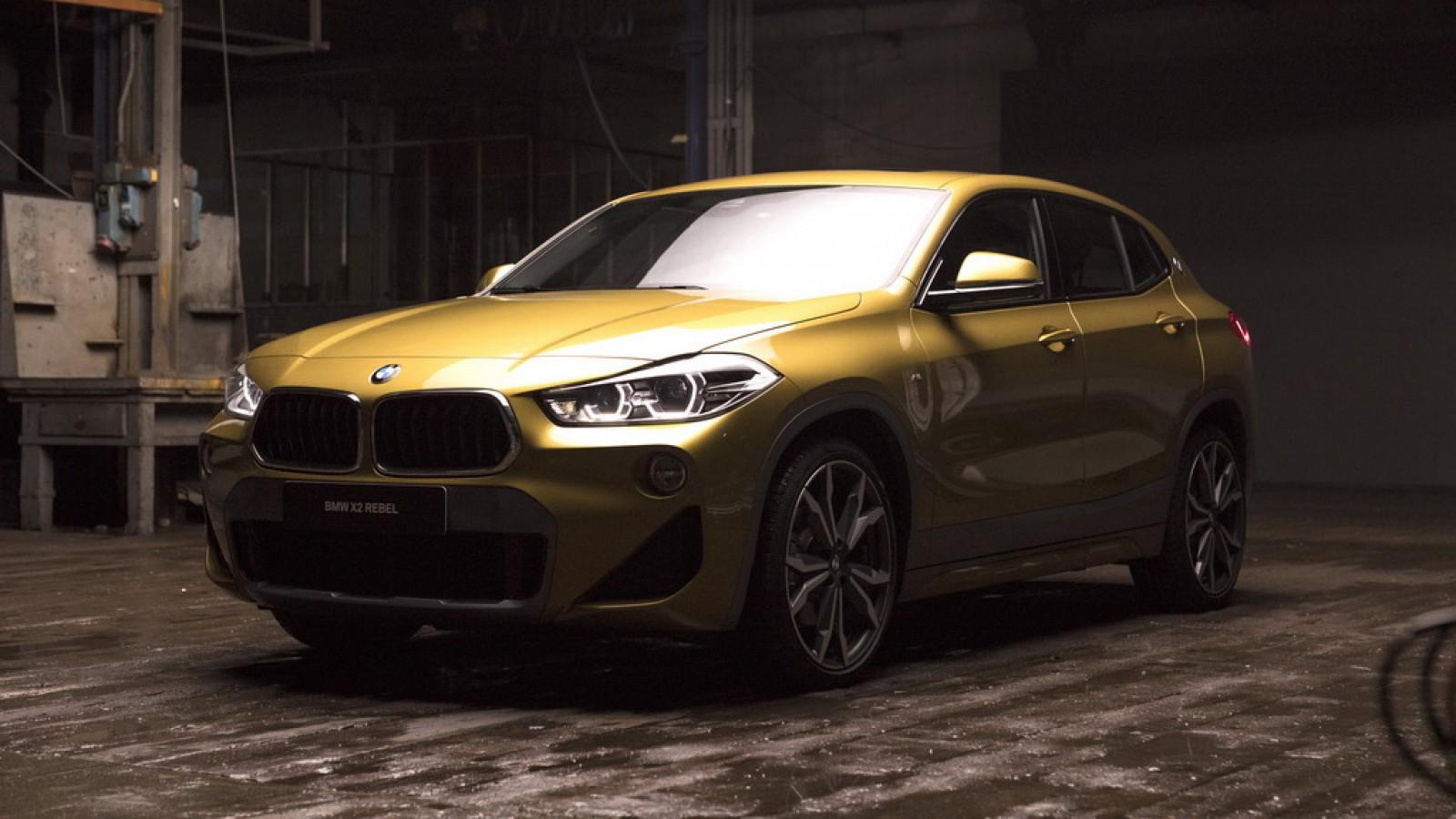 """(video) Ediţia limitată BMW X2 Rebel Edition: Doar cinci maşini """"tatuate"""" vor exista"""