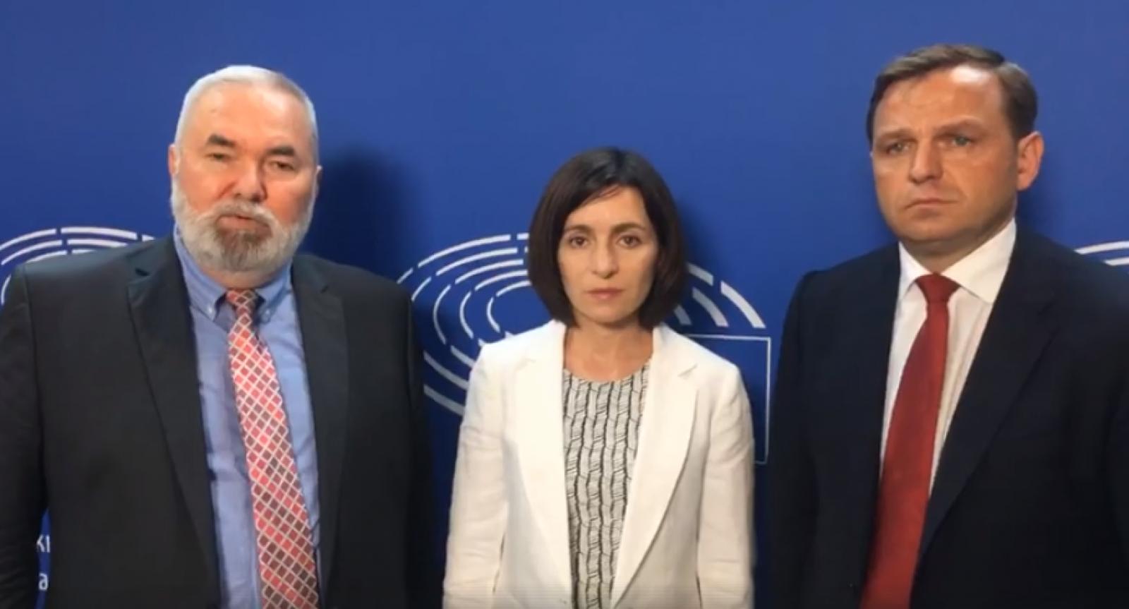 """(video) Mesajul lui Năstase, Sandu și Cibotaru de la Strasbourg: """"O sentință dată guvernării, dar nu cetățenilor"""""""