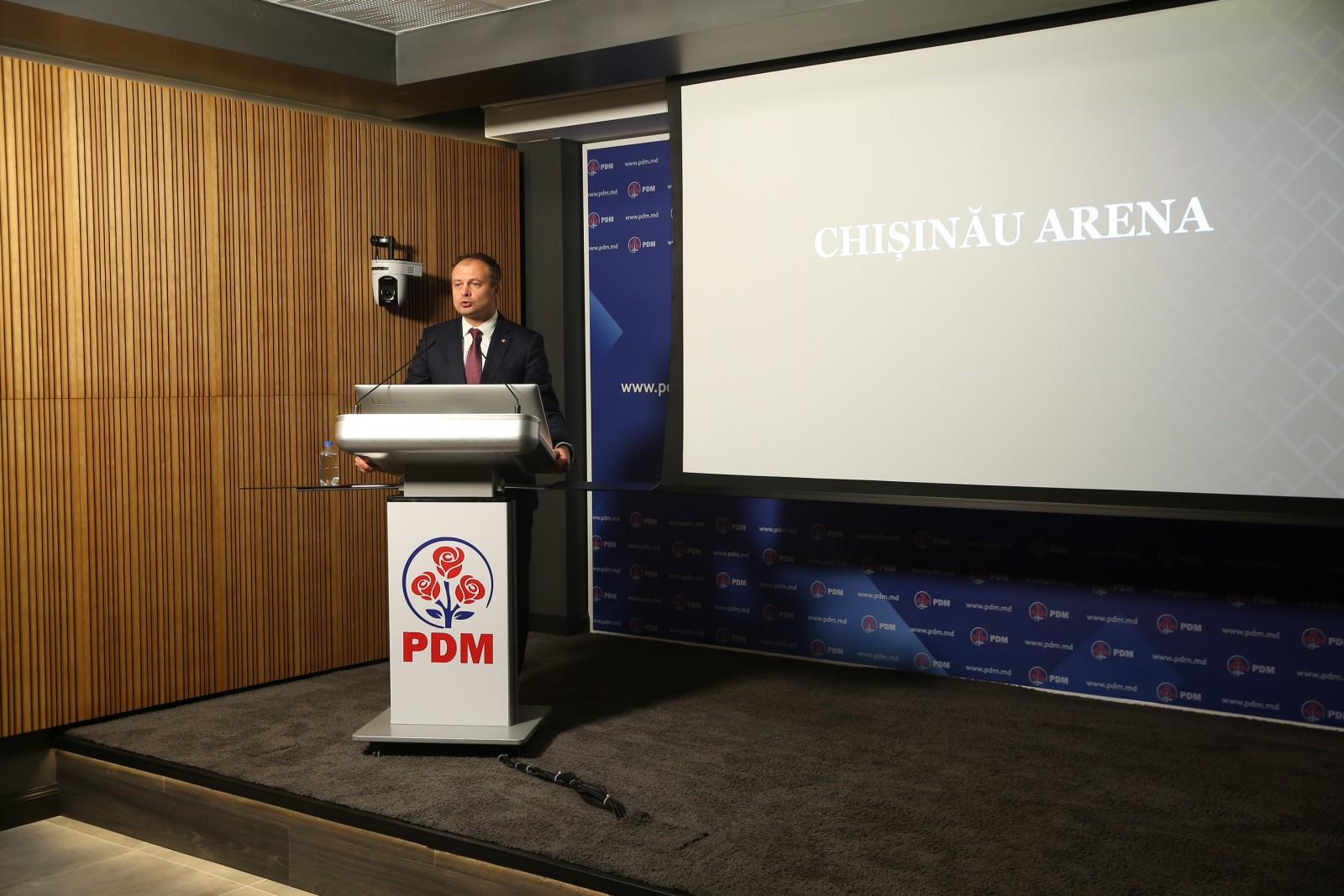 """(video) Proiectul """"Chișinău Arena"""" prezentat de PDM a fost luat de pe Youtube. Ce a prezentat de fapt Andrian Candu"""