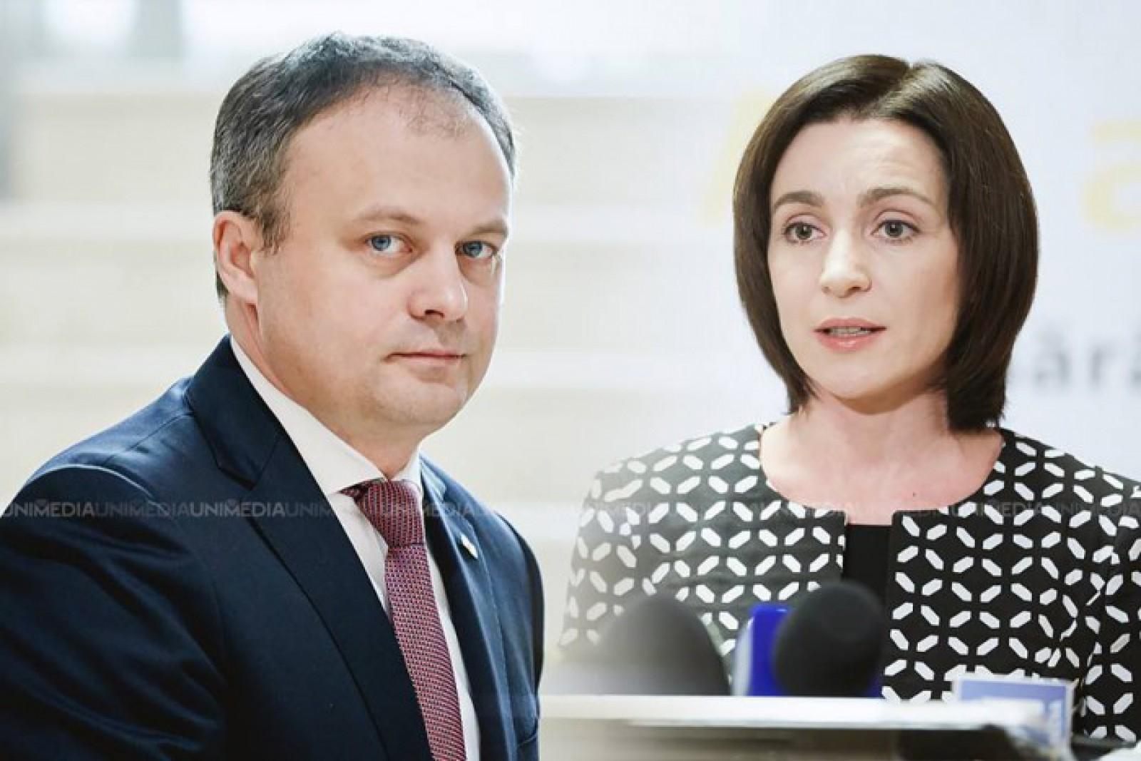 """(video) Replici acide între Maia Sandu și Andrian Candu: Lidera PAS ar fi """"mincinoasă"""", iar președintele Parlamentului, """"isterizat"""""""