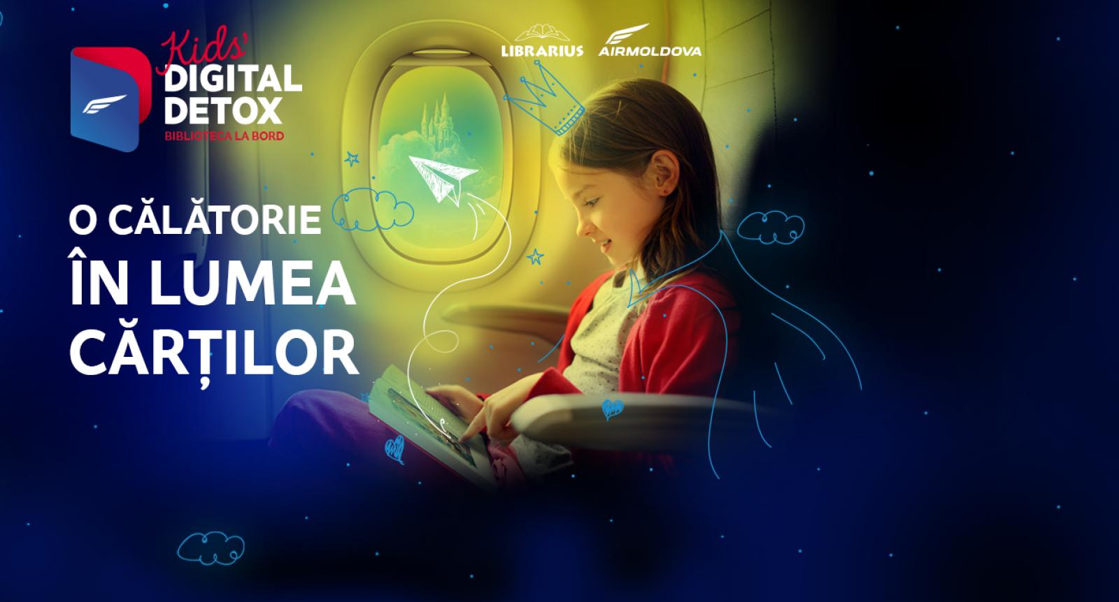 """(video) Surpriza """"Air Moldova"""" de ziua copiilor: O bibliotecă pentru cei mai mici pasageri"""