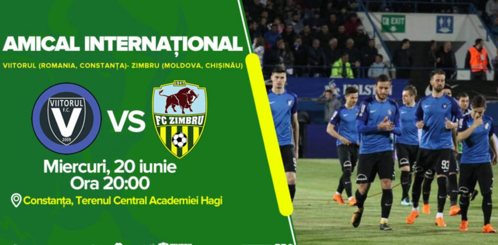 Zimbru Chișinău va disputa un meci amical în compania formației Viitorul Constanța