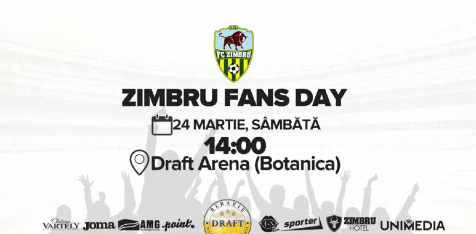 Zimbru Fans Day - ziua în care suporterii și jucătorii galben verzi se vor întâlni în afara stadionului