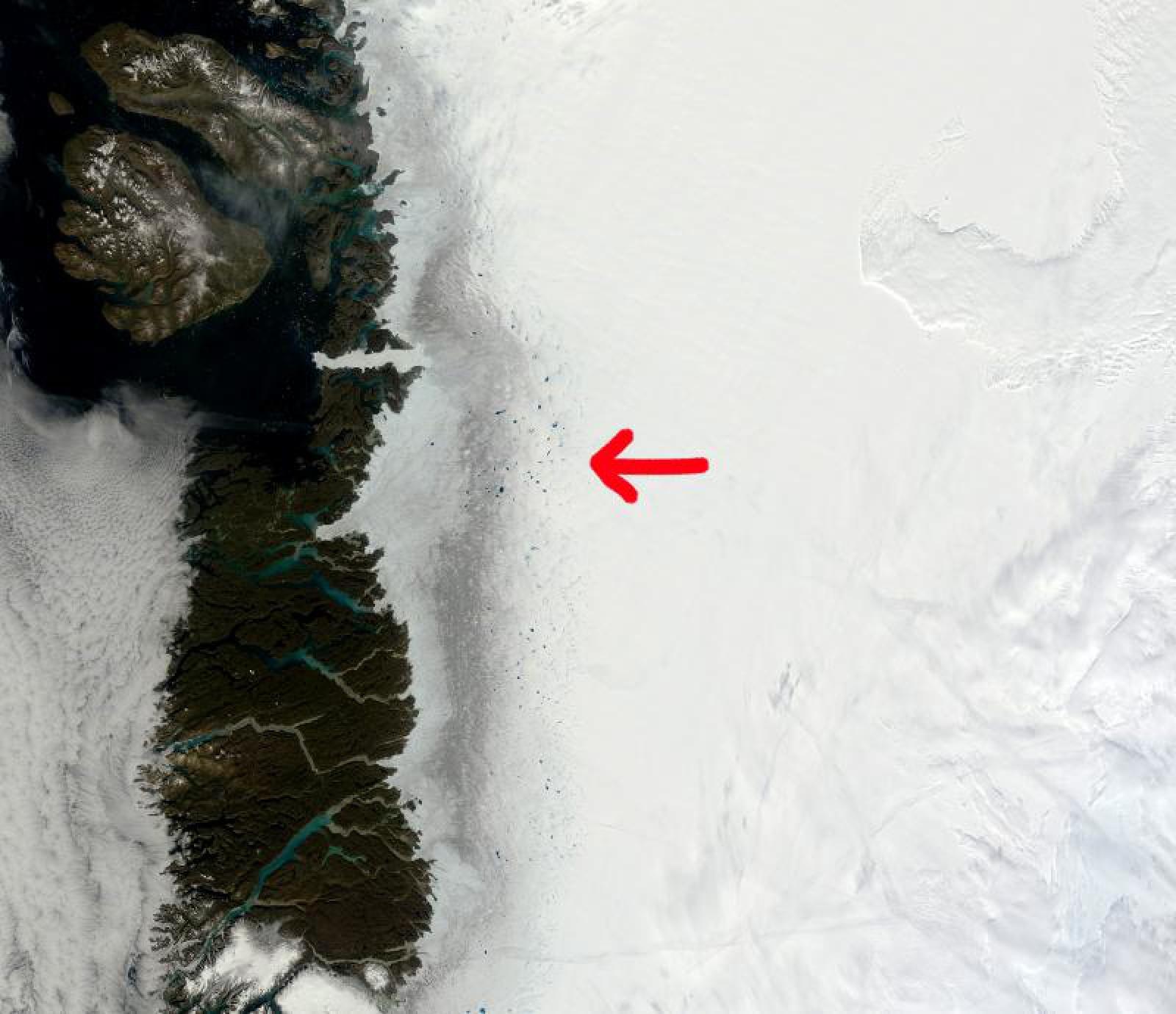"""""""Zona Întunecată"""", fâșia care reflectă efectul devastator al schimbărilor climatice asupra celei mai mari insule din lume"""
