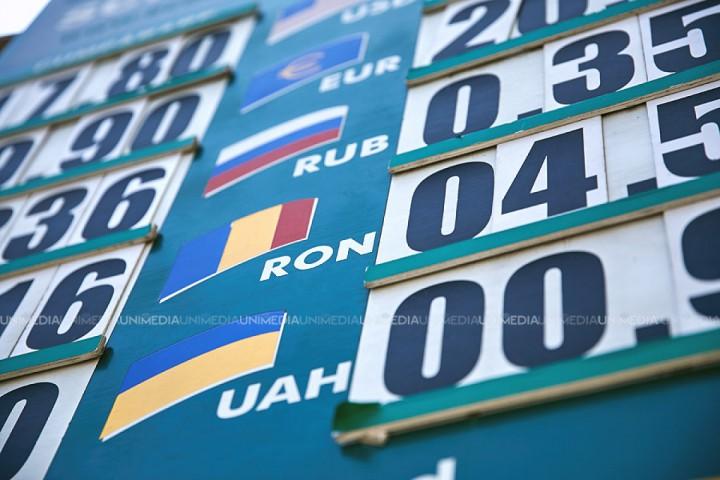 Curs valutar: Leul moldovenesc pierde teren față de euro și dolar