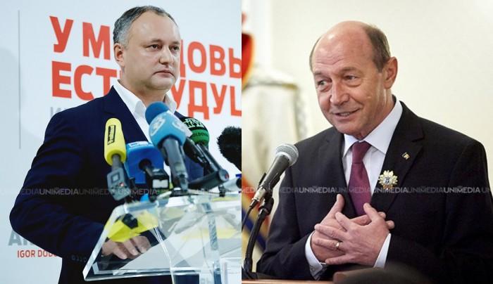 Dodon: Băsescu nu are decât să-și depună încă o dată dosarul dacă are nevoie de cetățenia R. Moldova