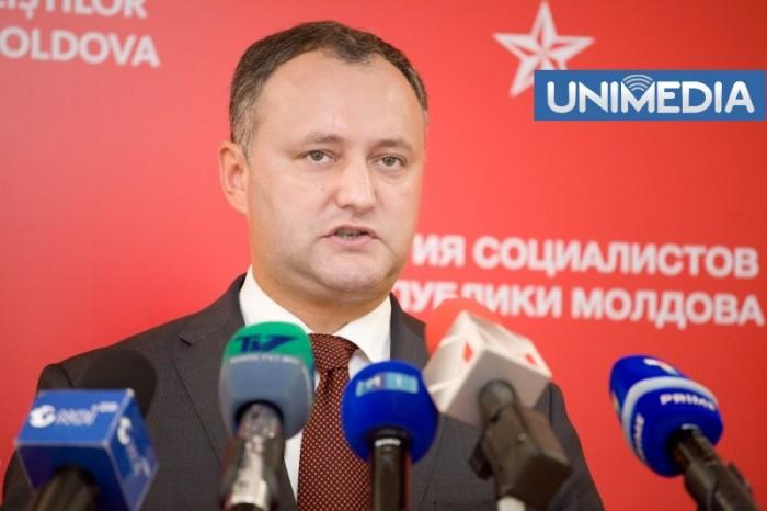 Dodon, contra candidaturii lui Filat: Decizia o va lua partidul