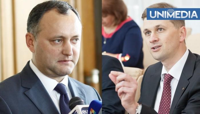 Dodon îi sugerează lui Drăguțanu să-și dea demisia