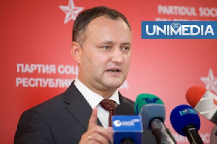 Dodon: Lupta între Filat şi Plahotniuc a dus Moldova în criză